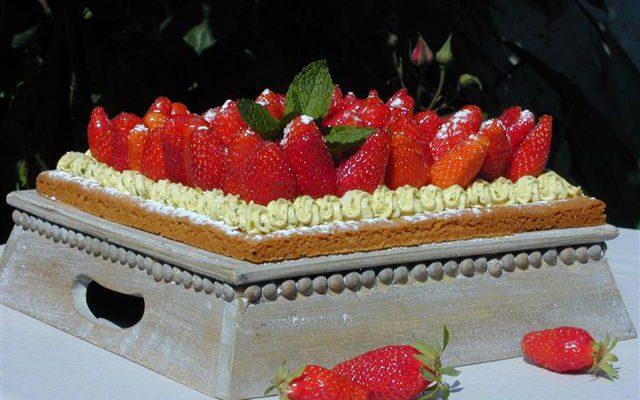 La tarte Pistache Fraises